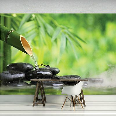 Vlies Fototapeten Fototapete Poster Bambus Stein Spa Natur Pflanzen 3fx11407ve Room Furnishing Furnishings