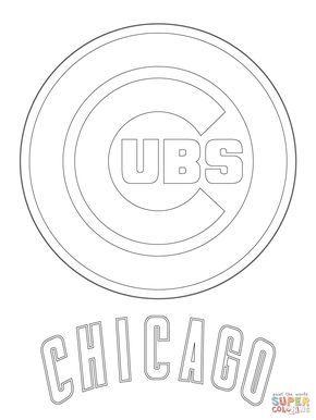 Chicago Cubs Logo Super Coloring Cubs Baseball Baseball