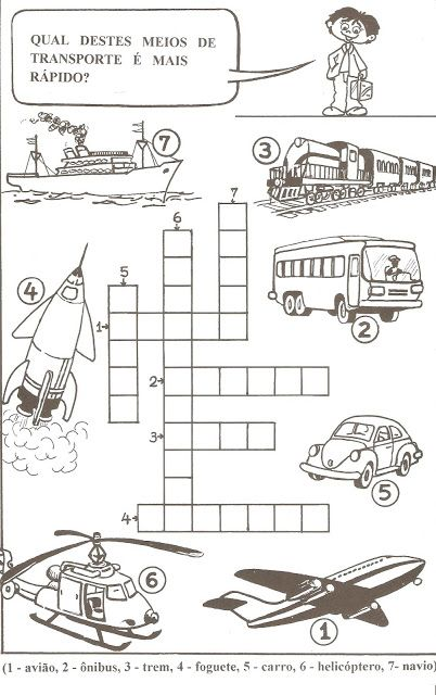 Meios De Transporte Com Imagens Atividades Meios De Transporte