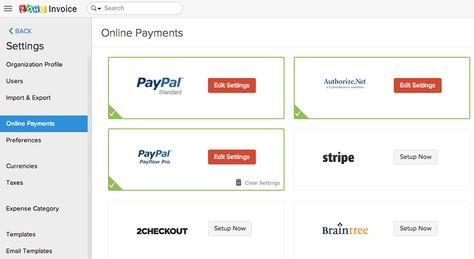 zoho invoice screenshot 4 Zoho Pinterest - how to set up an invoice