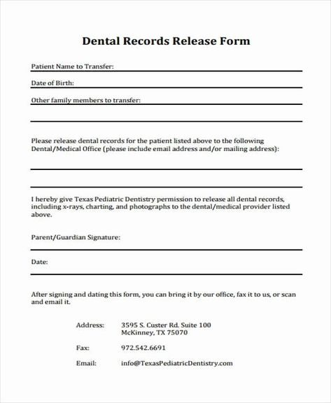 Records Release Form Luxury Printable Medical Forms Records Free Proposal Template Release