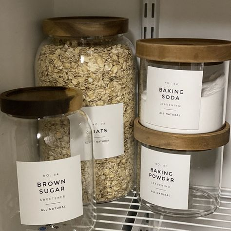 Brunch Ideas Discover Farmhouse Pantry Labels Customization Available Durable Water & Oil Resistant Square or Round fits Mason Jars Spice Labels, Pantry Labels, Food Labels, Beer Labels, Bottle Labels, Küchen Design, Layout Design, House Design, Design Table