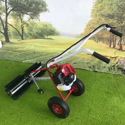 Details About 43cc Gas Power Walk Behind Sweeper Broom Hand Held Driveway Walkway Cleaning In 2020 Snow Cleaning Walk Behind