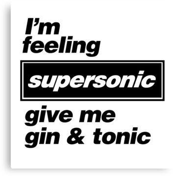Lyric Print//Poster 0014 Supersonic Oasis