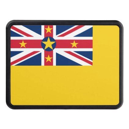 Niue National World Flag Hitch Cover 19 40 By Worldflagsposter Cyo Customize Personalize Unique Diy Flags Of The World Hitch Cover Customized Gifts
