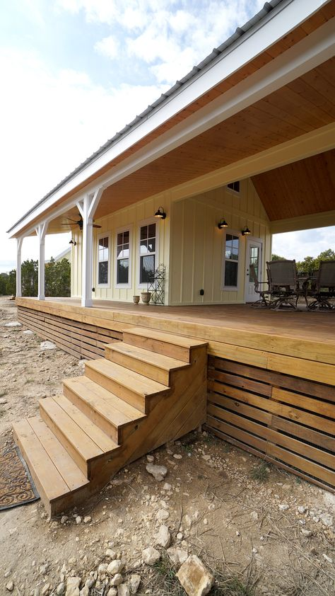 Cottage Cabins with Breezeway & Guest House — Kanga Room Systems Small Rustic House, Tiny House Cabin, Tiny House Design, Small Guest Houses, Tiny Houses, Tiny Guest House, Lake Houses, Farm House, Dog Trot House Plans