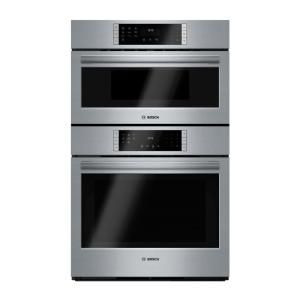 Ge 27 In Double Electric Wall Oven With Built In Microwave In