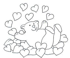 Valentine Bear Bathing In Valentine Hearts Bear Valentines Valentine Clipart Animated Valentines