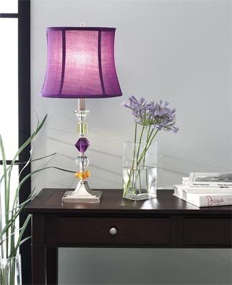 Purple Lamp Shade And Lilac It S A Good Shade Of Purple Cutelamps Table Lamp Table Lamps For Bedroom Purple Lamp Shade