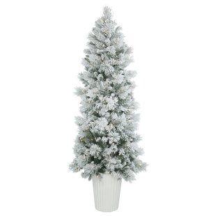 sports shoes 5ec59 c9c57 Slender Flocked Christmas Trees You'll Love | Wayfair.ca ...