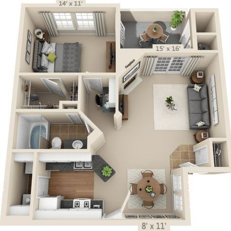15 Best Studio Apartment Layout That Really Work Futurian In 2020 Apartment Layout Sims House Sims House Plans