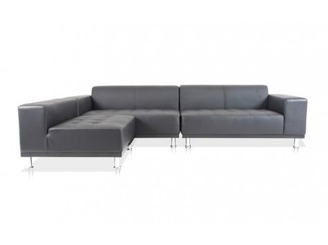 Black Leather Sectional Sofas 1390