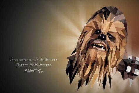 Chewbacca - Polygonal Star Wars Portraits by Vladan Filipovic
