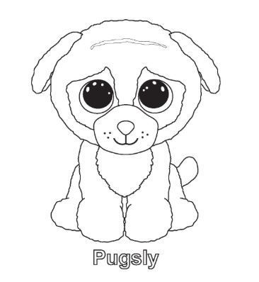 Beanie Boo Pugsly Coloring Pages Beanie Boo Birthdays Pictures Of Beanie Boos My Little Pony Coloring