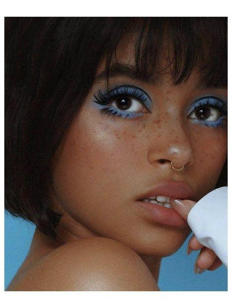 70s Makeup, Retro Makeup, Makeup Eye Looks, Vintage Makeup, Cute Makeup, Skin Makeup, Makeup Inspo, Eyeshadow Makeup, Makeup Inspiration