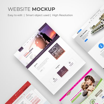 Website Perspective View Mockup Is Fully Layered Psd File With Smart Object Feature This Is A Blank In 2021 Web Design Mockup Free Web Design Fashion Design Template