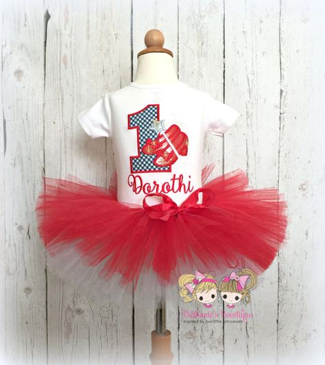 7398fb435 Ruby Red Slippers Birthday Tutu Set- Birthday Outfit- Sparkly red ...