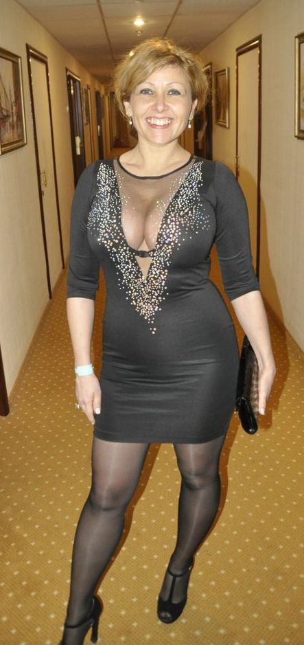 Black dress sexy mature women