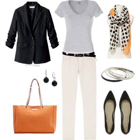 """""""Peach Accents"""" by bluehydrangea on Polyvore"""