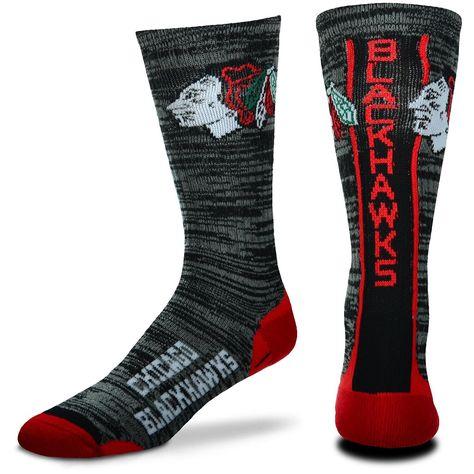 Women's For Bare Feet Chicago Blackhawks Team Vortex Socks, Size: Medium, HWK Grey