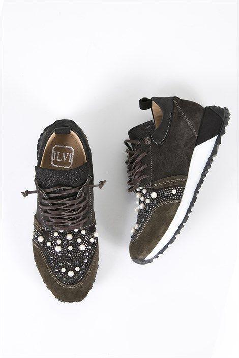 Memphis Bayan Spor Ayakkabi Yesil Kahve Tesettur Mayo Sort Modelleri 2020 Te Tesettur Mayo Sort Modelleri 2020 Sneakers Fashion Girls Shoes Women Shoes