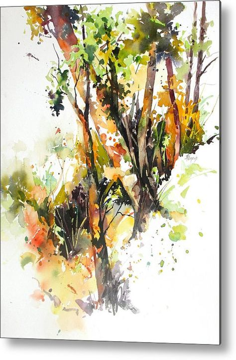 Thicket Metal Print by Rae Andrews. All metal prints are professionally printed, packaged, and shipped within 3 - 4 business days and delivered ready-to-hang on your wall. Choose from multiple sizes and mounting options.