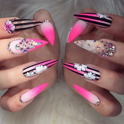 70+ Trendy and Unique Stiletto Nail Art Designs - Page 59 of 73 - SeShell Blog