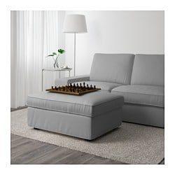 Kivik Ottoman With Storage Orrsta Light Gray Storage Footstool