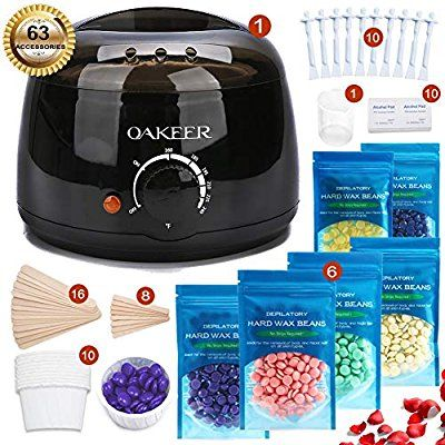 Amazon Com Oakeer Hair Removal Wax Warmer Kit Home Wax Kitwomen