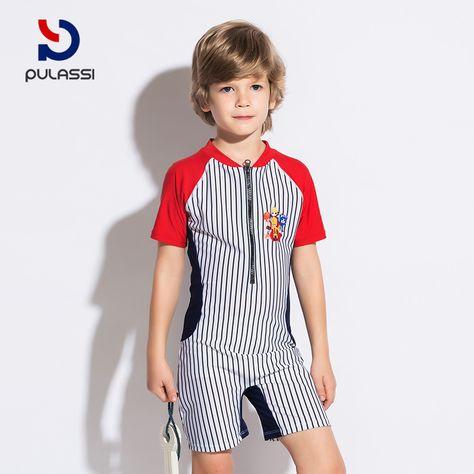 1220e658a4 Plasch children's one-piece swimsuit boys children cute boxer children sun  protection big children children swimwear men