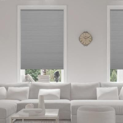 Home Decorators Collection Shadow White Cordless Blackout Cellular Shade 48 In W X 48 In L 10793478636471 The Home Depot Cellular Shades Bedroom Blackout Cellular Shades Cellular Shades
