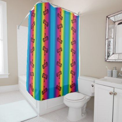 Video Game Controller Rainbow Shower Curtain Zazzle Com