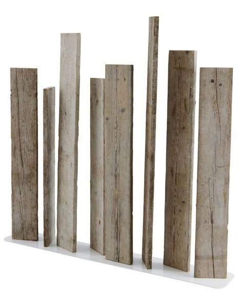Design Sichtschutz-Zaun blickdicht aus Metall Holz Sibirische - sichtschutz garten holz metall