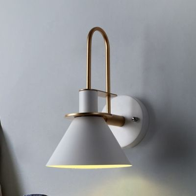 1 Head Funnel Small Wall Lamp Modern Steel Decorative Sconce