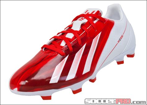 adidas Messi F10 TRX FG Soccer Cleats - Red with White...$62.99
