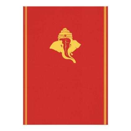 Lord Ganesh Wedding Invitation Zazzle Com Wedding Invitations