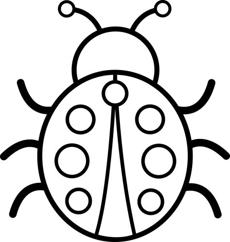 black and white pictures  cute colorable ladybug  free