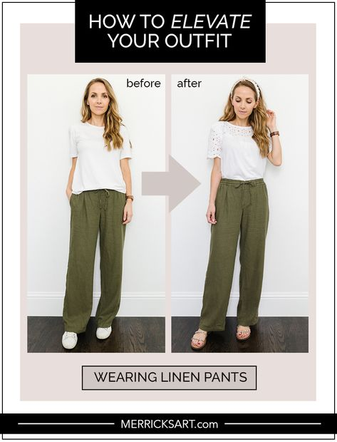 The Summer Style Guide: Linen Pants Outfit | Merrick's Art