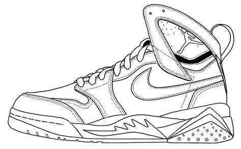 24 besten shoes coloring page Bilder auf Pinterest | Färben, Nike ...