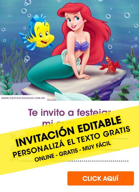 Tarjeta De Cumpleaños De Princesas De Disney Invitaciones