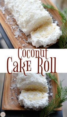 This Coconut Cake Roll is the perfect holiday dessert. It's beautiful and de… This Coconut Cake Roll is the perfect holiday dessert. It's beautiful and delicious – so light and fluffy. My husband loves this cake and he doesn't usually like coconut. Kokos Desserts, Coconut Desserts, Coconut Recipes, Köstliche Desserts, Holiday Desserts, Dessert Recipes, Desserts Caramel, Coconut Cakes, Easter Desserts