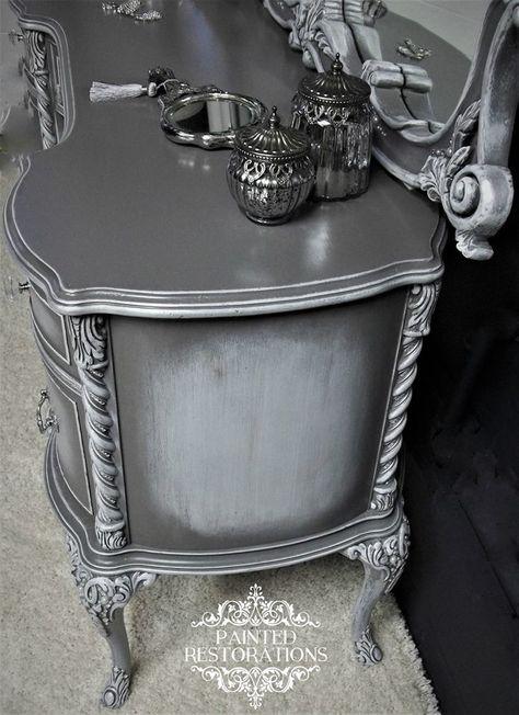 Pin about mobili dipinti e mobili riadattati on gray for Mobili contemporanei