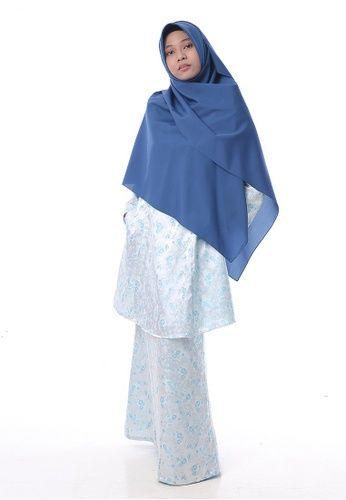 Baju Kurung Salwa from Denai Boutique in Blue