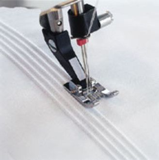 Show more information on Husqvarna 5 Groove Pin Tuck Foot (Cat. Buy Online from Sewing Machines Direct - Husqvarna 412369945 5 Groove Pin Tuck Foot with Raised Seam Plate Category 5 Pintuck foot, lov this 💖 sewing machine crafts white tips tutorial pi