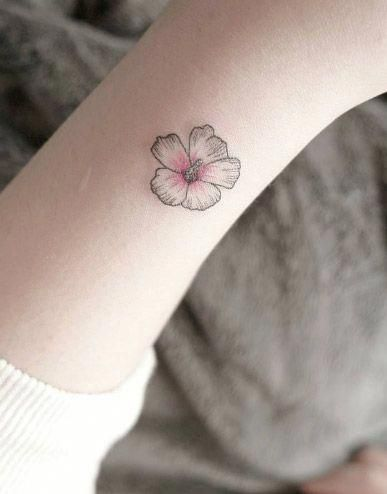 Small Flower Blossom By Chaehwa Bestgirltattoos Hybiscus Tattoo Hibiscus Tattoo Small Tattoos