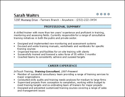 Training Consultant Resume Sample (resumecompanion) Resume - orthopedic nurse resume