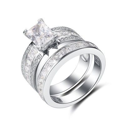 Find Cheap Wedding Ring Sets Under 100 From Our Matching His And Her Bridal Sets Collectio Cheap Wedding Rings Sets Sterling Silver Rings Set Wedding Ring Sets