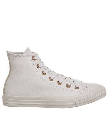 rose gold leather converse high tops
