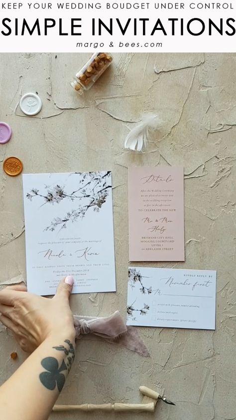 Digital printing wedding invitatons #weddinginvitation #invitationsuite #weddingideas #blushwedding