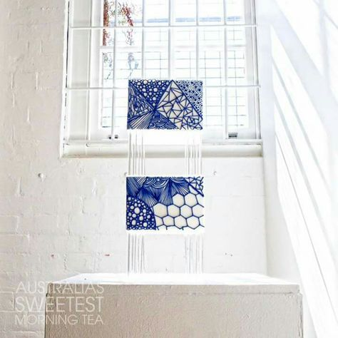 Contemporary blue and white